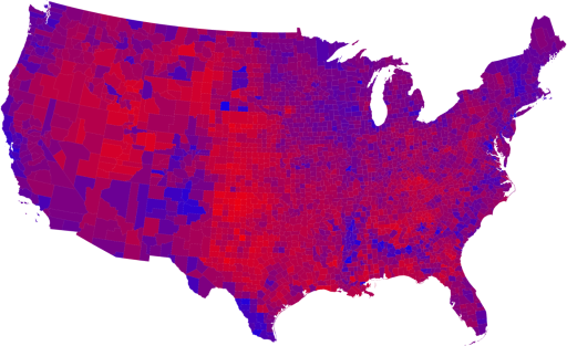 Purple Election Map